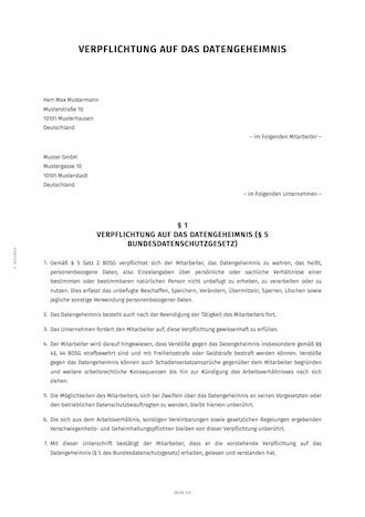 smartlaw verpflichtungserklrung beispiel - Verpflichtungserklarung Muster
