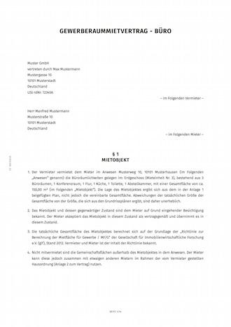 Mietvertrag für Büros (Gewerberäume) erstellen | Smartlaw