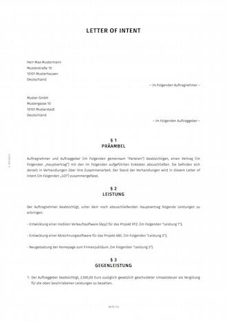 Letter of intent erstellen smartlaw smartlaw loi beispiel spiritdancerdesigns Choice Image