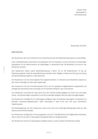 smartlaw qualifiziertes arbeitszeugnis beispiel - Arbeitszeugnis Schreiben Muster